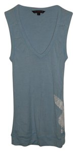 Playboy Logo V-neck Sleeveless Top Blue