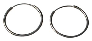 Vintage Sterling Silver Small Hoop Earrings