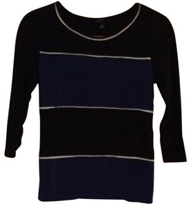 Ann Taylor 3/4 Sleeve Striped Sweater