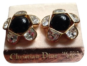Dior Vintage Christian Dior Crystal Pierced Earrings NWT