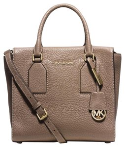 Michael Kors Satchel in Dark Dune/Gold