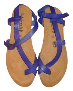 Other Cobalt Blue Leather Sandals