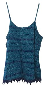 Mossimo Supply Co. Target Tribal Boho Top blue