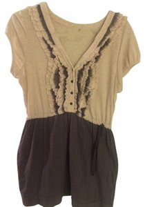 One September short dress cream, purple, grey on Tradesy
