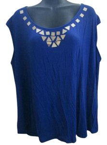 Worthington Plussize 3x Evening Top Exotic Blue
