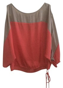BCBGMAXAZRIA Top Coral & tan