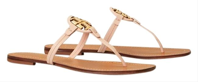 Item - Seashell Pink Mini Miller Leather Thong Sandals Size US 10.5 Regular (M, B)