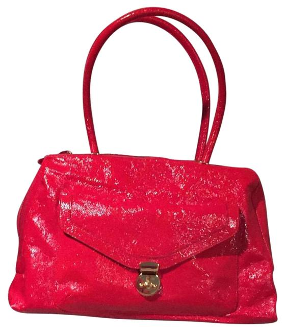 Goldenbleu Red Patent Leather Satchel Goldenbleu Red Patent Leather Satchel Image 1