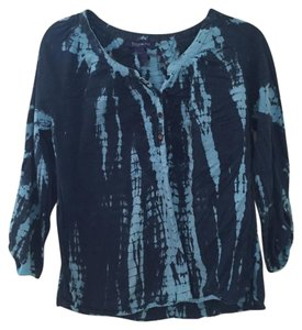 Bandolino Light Blue Casual Quarter Sleeves Top multi blue
