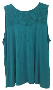 Liz Claiborne Blue Fancy Casual Comfy Top teal
