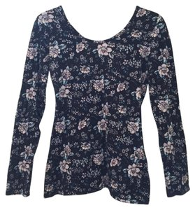 Nollie Floral Slim Low Back Long Sleeves Pacsun Top multi