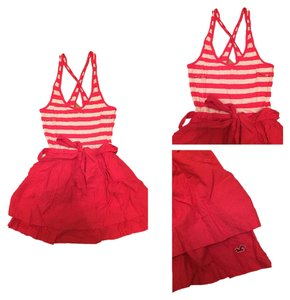 Hollister short dress Pink And White on Tradesy