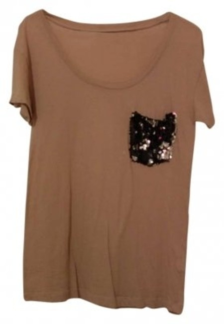 Preload https://item4.tradesy.com/images/madewell-taupe-sequins-tee-shirt-size-2-xs-158243-0-0.jpg?width=400&height=650