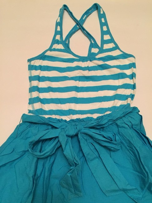 Hollister short dress Baby Blue And White on Tradesy