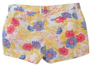 Old Navy Floral Summer Bermuda Shorts white