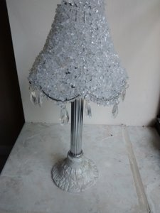 Beaded Lamp Candle Holder