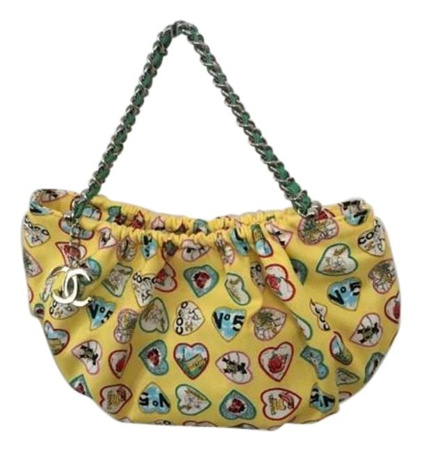 Item - Hobo Bag Mini Valentines Yellow Canvas Baguette