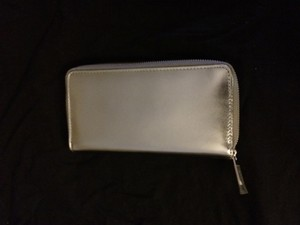 Marc Jacobs Metallic Leather Zip Clutch Wallet
