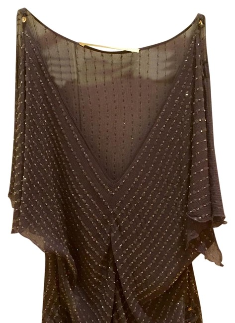 Twelfth St. by Cynthia Vincent Light Purple Street with Beads Sheer Blouse Size 4 (S) Twelfth St. by Cynthia Vincent Light Purple Street with Beads Sheer Blouse Size 4 (S) Image 1