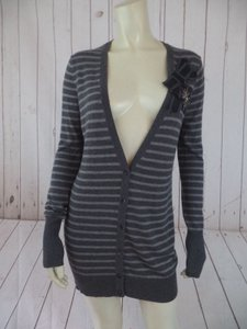 Ann Taylor LOFT Rayon Fine Wool Blend Sequin Button Front Sweater
