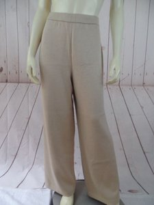 St. John Collection Wool Rayon Santana Knit Wide Leg Chic Pants