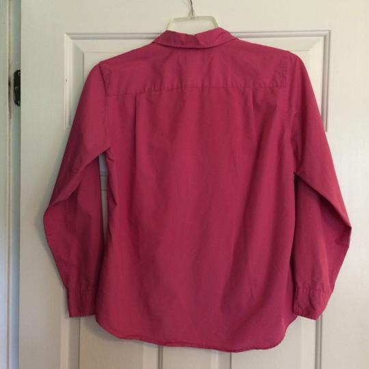 Lands' End Fuchsia Pink Button Down Classic Top well-wreapped