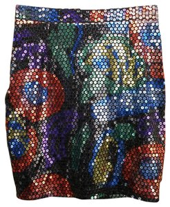YVAN & MARZIA Paris Mini Skirt Multi