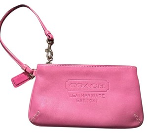 Coach Coach pink leather wristlet