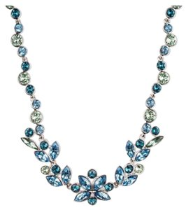 Givenchy Blue Marine Swaroviski element crystals statement necklace