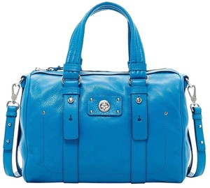 Marc by Marc Jacobs Barrel Shifty Leather Swingpack Crossbody Satchel in Aquamarine