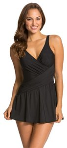 Miraclesuit Miraclesuit Must Haves Aurora One-Piece swimsuit dress skirtted black 16