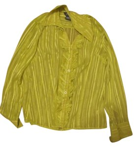 George Blouse Button Down Shirt Lime