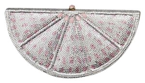 Judith Leiber Grapefruit White Clutch