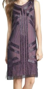 Patra Short Silk Fringe Dress