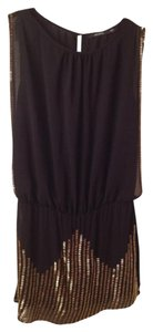 Ark & Co. Beaded Open Going Out Holiday Dress