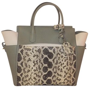 Reed Krakoff Tote in Multi Color Taupe/ Cream/