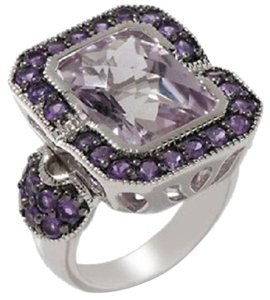 Sima K Sima K 7.04ct Rose de France and Purple Amethyst Sterling Silver Ring - Size 6
