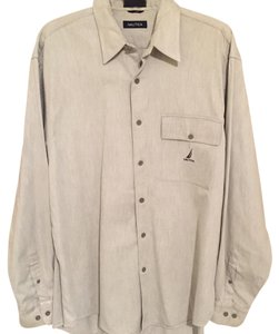 Nautica Button Down Shirt Grey