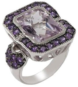 Sima K Sima K 7.04ct Rose de France and Purple Amethyst Sterling Silver Ring - Size 7
