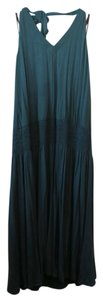 Teal Green Maxi Dress by Laundry by Shelli Segal Green Knit Halter V-neck