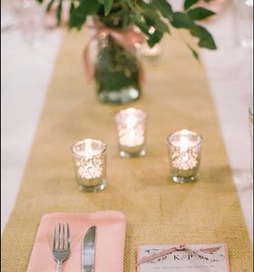 Tan Burlap Table Runners Tablecloth