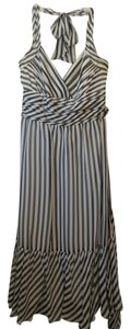 BCBGMAXAZRIA Gown Elegant Stripe Dress