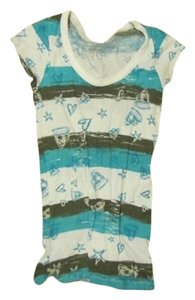Arizona T Shirt Turquoise/White/Brown