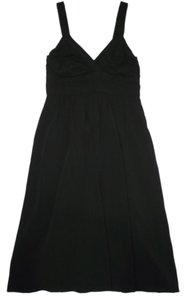 Theory Black Viscose Empire Waist Dress