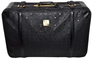 MCM Visetos Suitcase Luggage Trunk Black Travel Bag