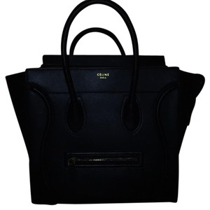 Cline Celine Mini Luggage Black Satchel