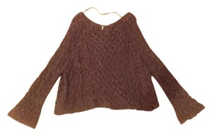 Free People Crochet Open Knit Sweater