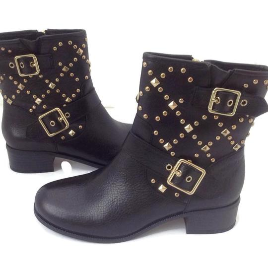 INC International Concepts Studded Leather Motorcycle Black Boots