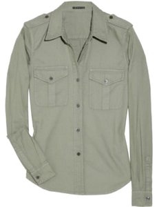 Theory Button Down Shirt Light green