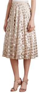 Eva Franco Metallic Anthropologie Skirt gold